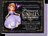 Sofia the First Tea Party Invitations sofia the First Tea Party Birthday Invitations Di 612fc