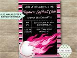 Softball Birthday Invitations softball Birthday Invitations softball Party