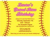 Softball Birthday Invitations softball Invitation