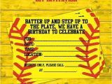 Softball Birthday Party Invitations Girls softball Party Diy Invitations by