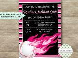 Softball Birthday Party Invitations softball Birthday Invitations softball Party