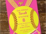 Softball Birthday Party Invitations softball Invitation Birthday Invitation softball Invite