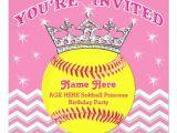 Softball Birthday Party Invitations softball Princess softball Birthday Invitations Zazzle