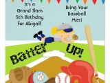 Softball Invitations Birthday Custom Blond Girl softball Birthday Invitation 5 25