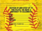 Softball Invitations Birthday Girls softball Party Diy Invitations by