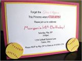 Softball Invitations Birthday softball Party Invitations softball Birthday Party