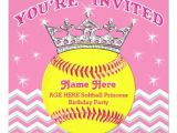 Softball Invitations Birthday softball Princess softball Birthday Invitations Zazzle