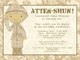 Soldier Birthday Party Invitations Bear River Photo Greetings soldier Birthday Party Invitation