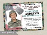 Soldier Birthday Party Invitations Military Birthday Party Invitation Camo Invites Army Party