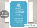Something Blue Bridal Shower Invitations Blue Bridal Shower Invitation something Blue Invitation