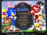 Sonic Birthday Party Invitations sonic Invitation sonic Birthday Party sonic Knuckles