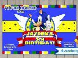 Sonic Birthday Party Invitations sonic the Hedgehog Birthday Invitation