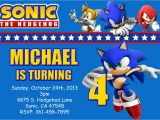 Sonic Birthday Party Invitations sonic the Hedgehog Birthday Invitations Dolanpedia
