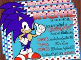 Sonic Birthday Party Invitations sonic the Hedgehog Invitation Mimi 39 S Dollhouse