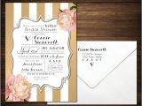 Southern Bridal Shower Invitations southern Bridal Shower Invitations Black & White with Pink