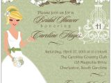 Southern Bridal Shower Invitations southern Magnolia Romance Bridal Shower Invitations
