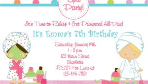 Spa Birthday Party Invitations Printables Free Free Printable Spa Birthday Party Invitations Pool