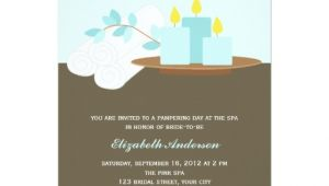 Spa Bridal Shower Invitations Spa Bridal Shower Aqua 5×7 Paper Invitation Card Zazzle