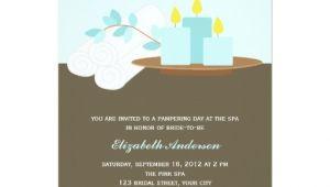 Spa Bridal Shower Invitations Spa Bridal Shower Aqua 5×7 Paper Invitation Card Zazzle