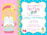 Spa Invitations for Birthday Party Girls Spa Birthday Party Invitations Home Party Ideas