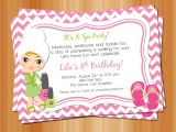 Spa Invitations for Birthday Party Printable Girl Spa Birthday Party Invitation Manicure