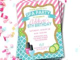 Spa Invitations for Birthday Party Spa Birthday Invitation Spa Party Invitation Sleepover