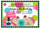 Spa Invitations for Birthday Party Spa Birthday Party Invitations Spa Party Spa