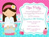 Spa Invitations for Birthday Party Spa Party Invitation Spa Birthday Party Spa Invitation