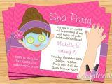 Spa Invitations for Birthday Party Spa Party Kids Birthday Invitation Mani Pedi