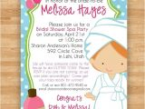 Spa themed Bridal Shower Invitations Items Similar to Bridal Shower Invitation Spa Relaxation