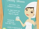 Spa themed Bridal Shower Invitations Spa Party Invitation Great for Birthdays Bridal Showers