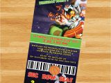 Space Jam Party Invitations Printable Space Jam Invitation Loonytoons Custom Birthday