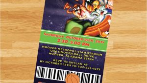Space Jam Party Invitations Printable Space Jam Invitation Loonytoons Custom Birthday
