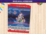 Space Jam Party Invitations Space Jam Vip Birthday Invitation Space Jam Party Invitation