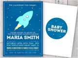 Space themed Baby Shower Invitations Outer Space Baby Shower Invitation Space Baby Shower