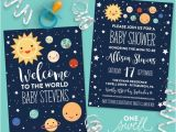 Space themed Baby Shower Invitations Outer Space Invitation Moon Invitation Moon Baby Shower