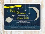 Space themed Baby Shower Invitations Over the Moon Space themed Baby Shower Invitations Uni