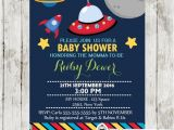Space themed Baby Shower Invitations Shops themed Baby Showers and Blue and On Pinterest