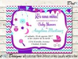 Spanish Baby Shower Invitation Spanish Baby Shower Invitation En Español Niña Girl Niño
