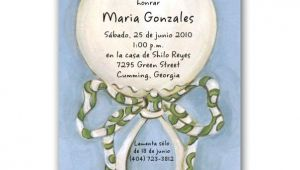 Spanish Baby Shower Invitations Templates Spanish Baby Shower Invitations