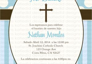 Spanish Baptism Invitation Wording Samples First Munion Invitation Spanish Christening Baptism