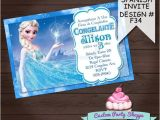 Spanish Birthday Party Invitations Spanish Frozen Printable Invitation Custom by