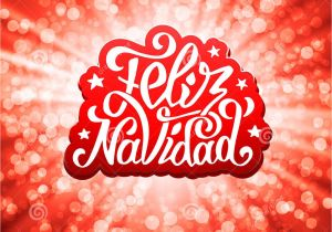 Spanish Christmas Party Invitations Feliz Navidad Lettering Merry Christmas Greetings Stock