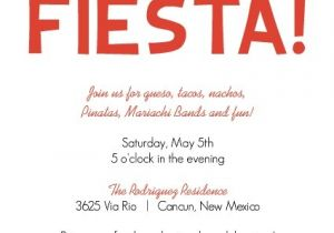 Spanish Christmas Party Invitations Fiesta Confetti and Flags Cinco De Mayo Invitation by