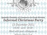 Spanish Christmas Party Invitations Informal Christmas Party Spanish Chamber Of Commerce In