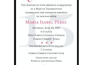 Spanish Wording for Quinceanera Invitations Quinceanera Invitation Wording Template Best Template
