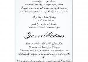 Spanish Wording for Quinceanera Invitations Quinceanera Invitations In Spanish 4 25 X 5 5