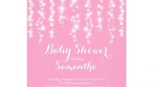 Sparkle Baby Shower Invitations Modern Sparkle Girls Baby Shower Invitation