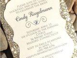 Sparkly Bridal Shower Invitations Bridal Shower Invitation 25 Glitter Bridal Shower