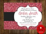 Sparkly Bridal Shower Invitations Glitter Invitation Bridal Shower Invitation Wedding Shower